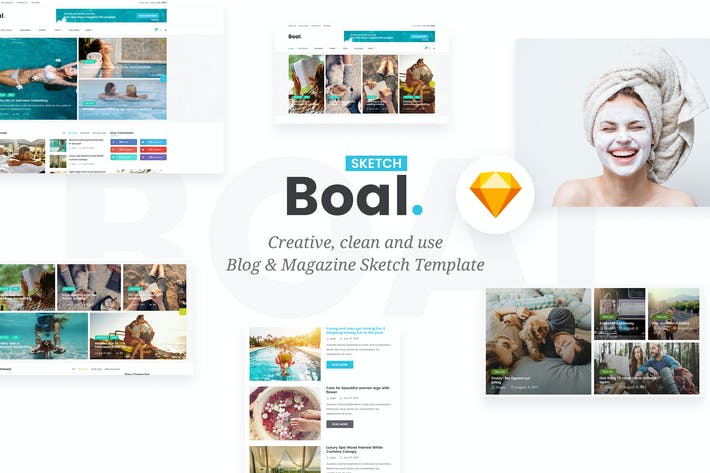 Cover Image For BOAL - Magazine & Personal Blog Sketch Template