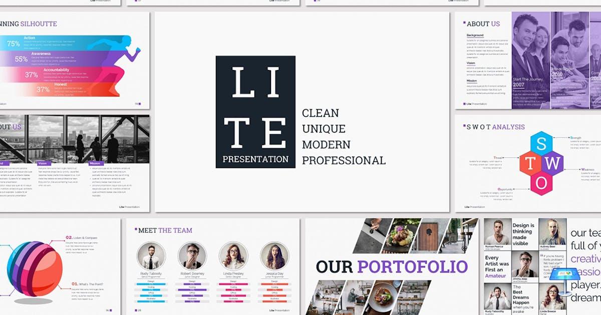 LITE - Keynote Presentation Template by Unknow