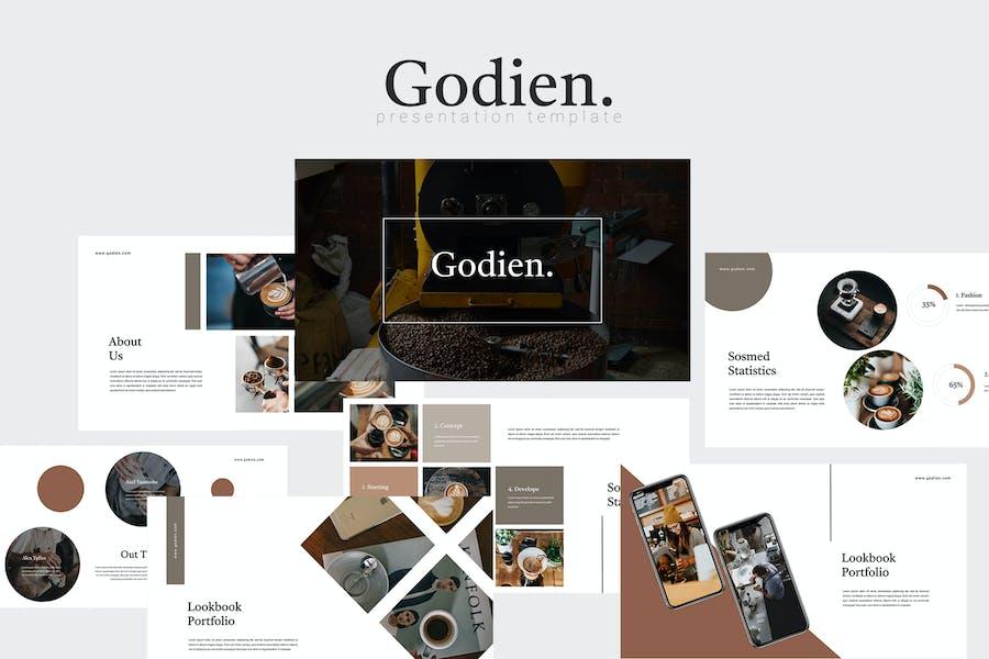 Godien - Coffee Roastery Keynote Template