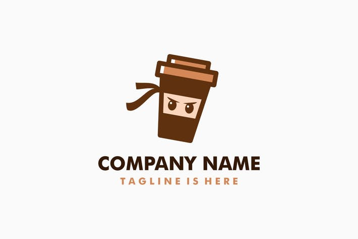 Thumbnail for Coffee Ninja Logo Template