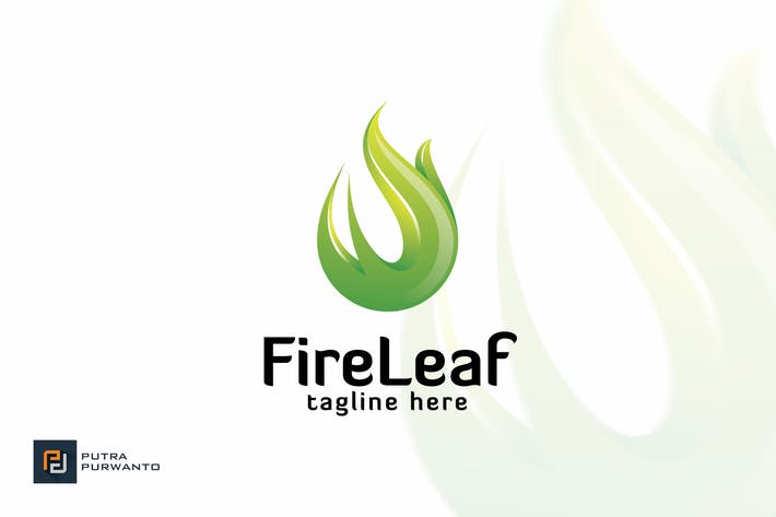 Thumbnail for Fire Leaf - Logo Template
