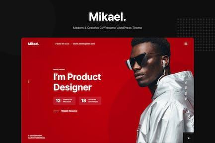 Mikael - Modernes & kreatives Lebenslauf/Lebenslauf WP Thema
