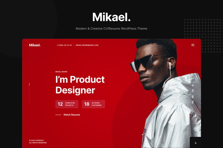 Thumbnail for Mikael - Modern & Creative CV/Resume WP Theme