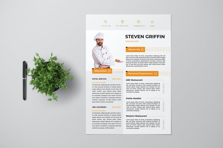 Cover Image For Chef Resume Pro