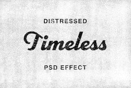 Timeless: Distressed Text Effect