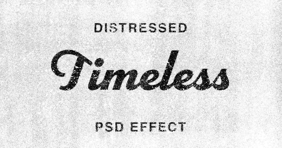 Download Timeless: Distressed Text Effect by pixelbuddha_graphic