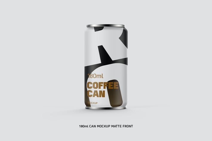 Thumbnail for Coffee Can w Bottom Cap 180ml Matte Eye Level