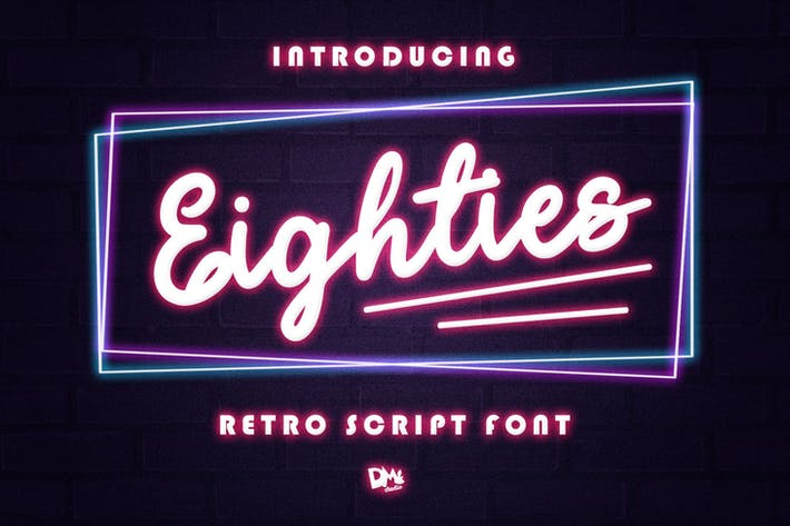 Thumbnail for Eighties - Retro Script Font