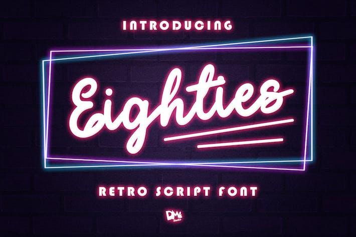 Thumbnail for Años ochenta - Retro Script Font