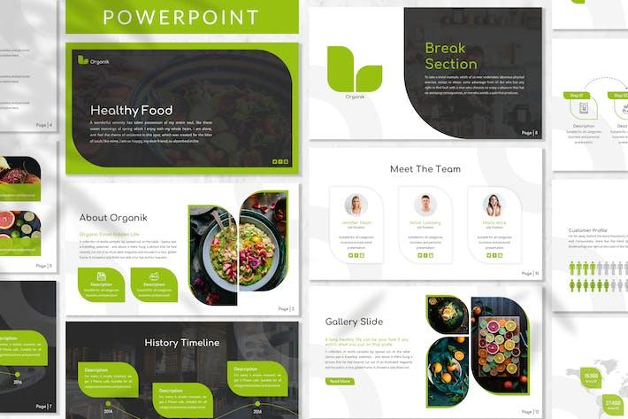 Organik - Healthy Powerpoint Template