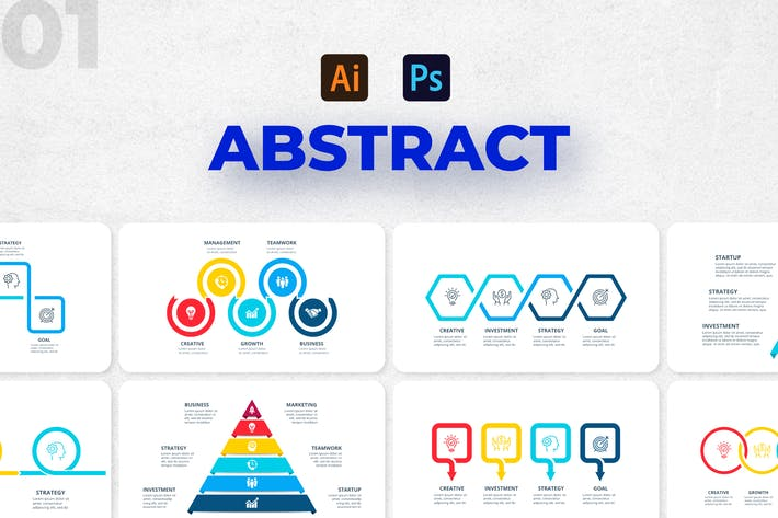 Abstract Infographics Set. Part 01