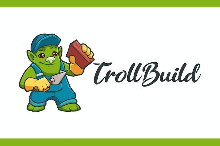 Thumbnail for Логотип талисмана Builder Тролль