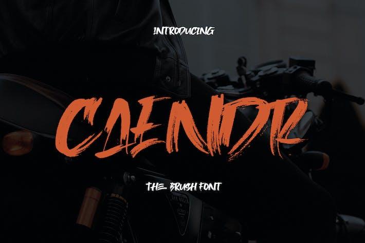 Thumbnail for Caendr - Brush Font YR