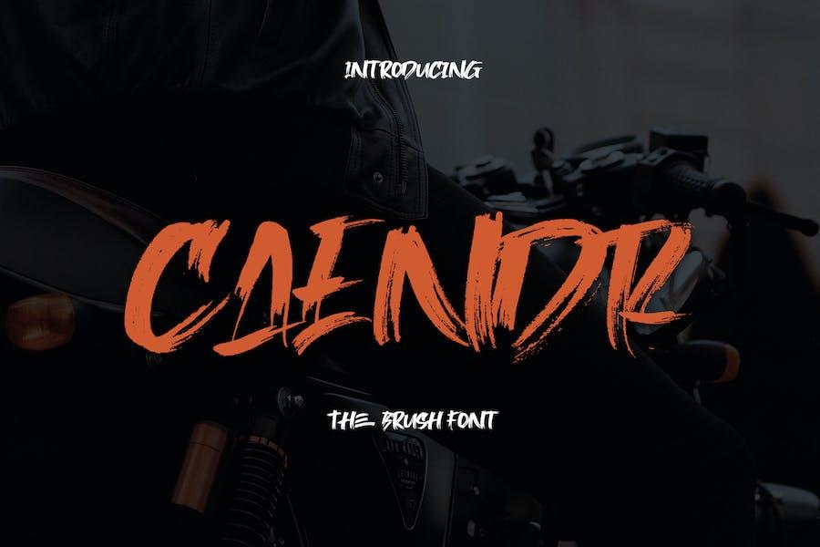 Caendr - Brush Font YR