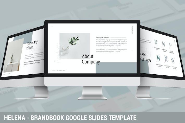 Thumbnail for Helena - Brandbook Google Slides Template