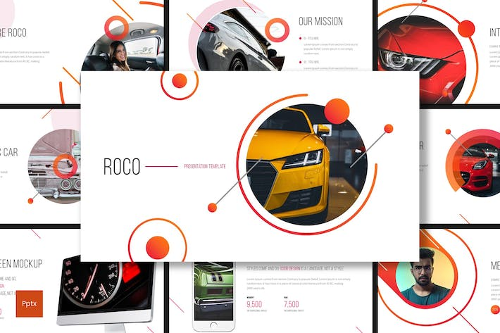 Roco Automotive Powerpoint Template by inspirasign on