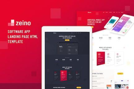 Zeino - Software App Landing Page HTML Template