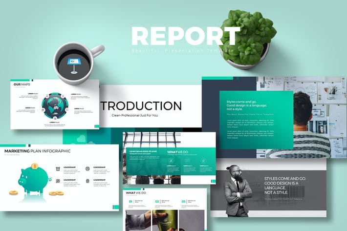 Thumbnail for Report Keynote Templates