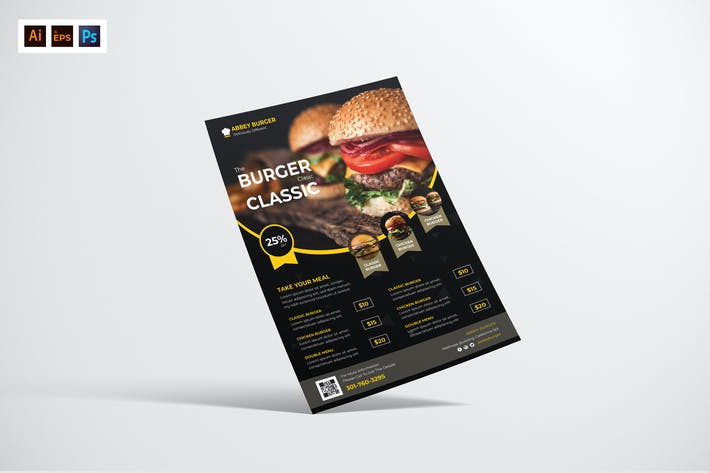 Thumbnail for Food Delivery Flyer Design