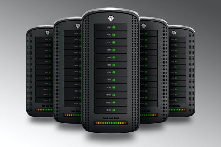 Hosting Server Pro Dark Series Front View