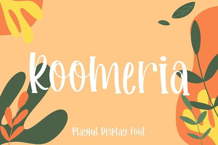 Roomeria Playful Font
