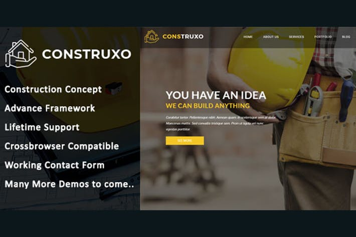 Thumbnail for Construxo - Modèle HTML de construction
