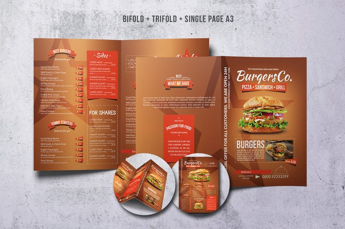 Thumbnail for American Burgers Menu Bundle