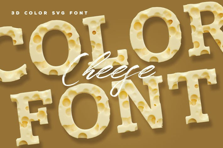 Thumbnail for Cheese Color Font