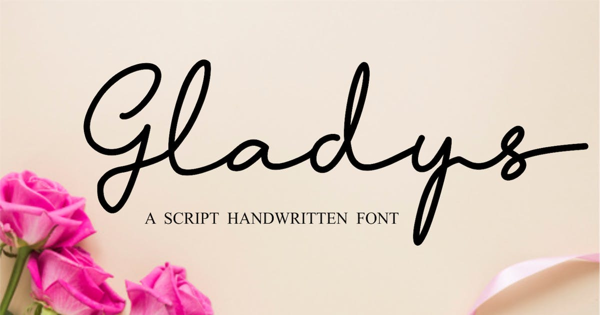 Download Gladys - Script Handwritten Font by CocoTemplates