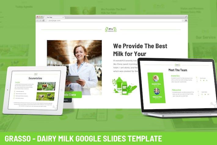 Thumbnail for Грассо - Молочная ферма Google Слайды Шаблон