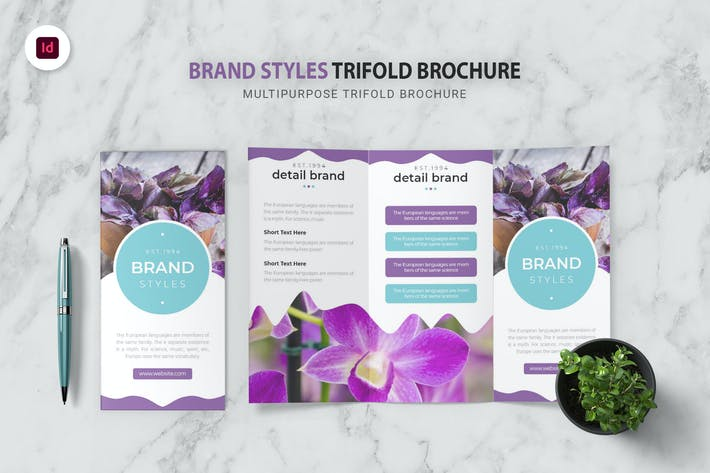 Thumbnail for Brand Styles Trifold Brochure