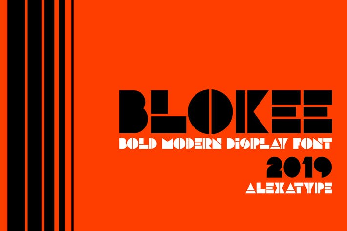 Thumbnail for BLOKEE - Police Blockletter moderne