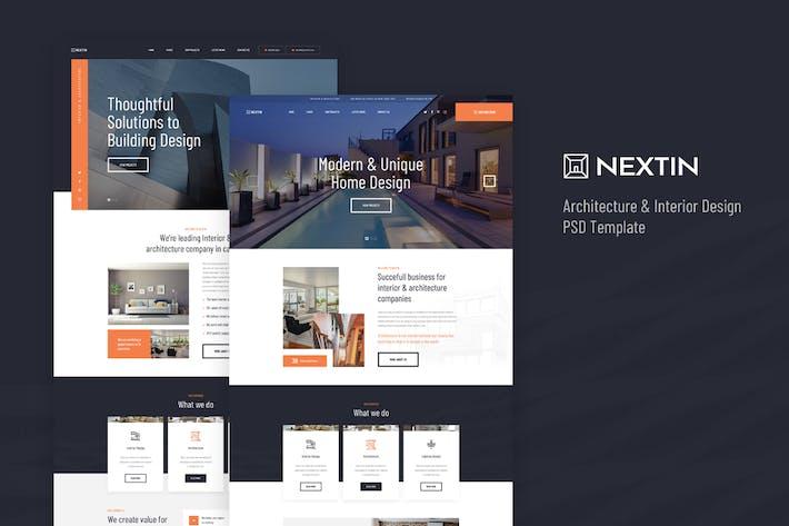 Thumbnail for Nextin - Architecture & Interior Design PSD