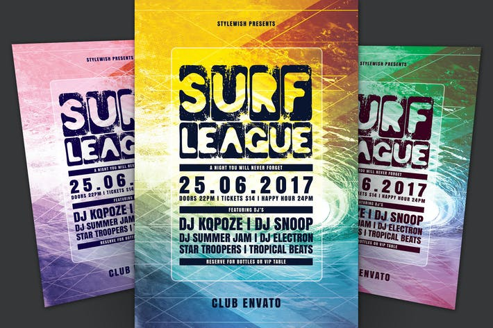 Thumbnail for Surf League Flyer