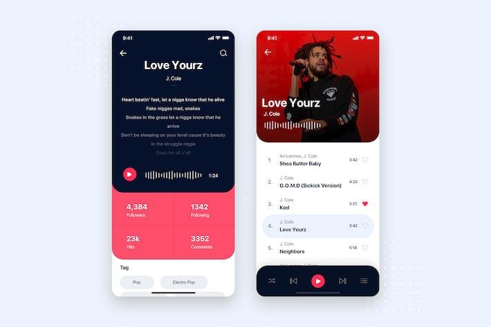 Thumbnail for Music Mobile App UI Kit-Vorlage