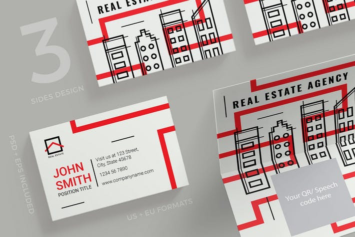 Thumbnail for Real Estate Agency Business Card Template