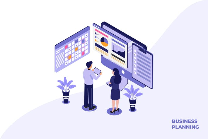 Thumbnail for Business Planing - Ilustration Template