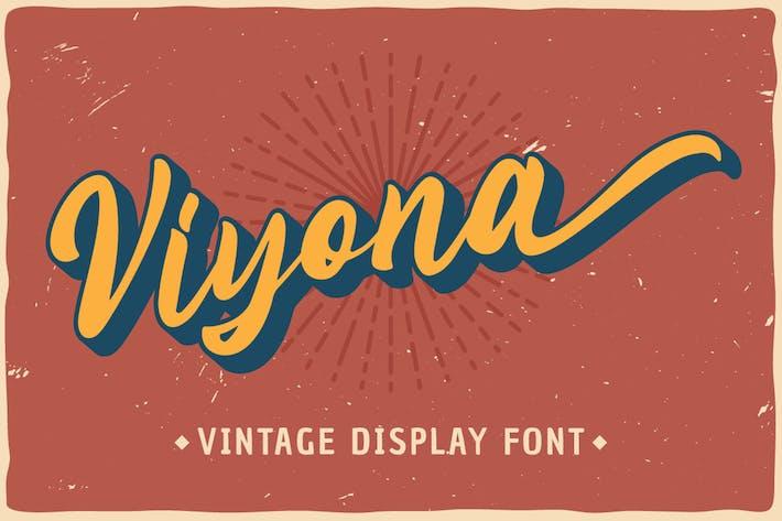 Viyona - Fuente de visualización vintage