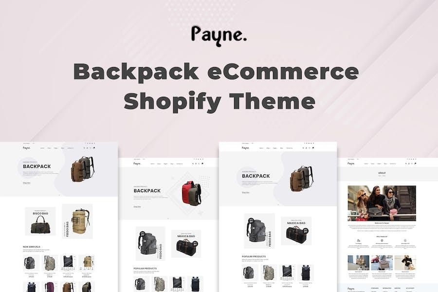 Payne - Mochila de comercio electrónico Shopify Tema