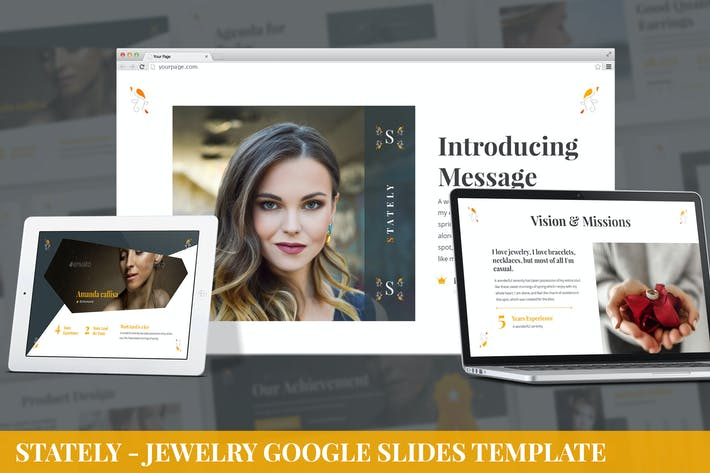 Stately - Jewelry Google Slides Template