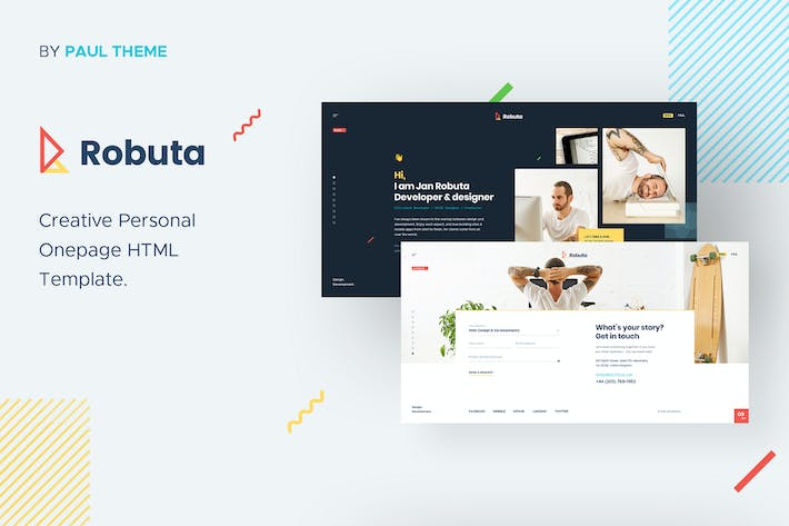 Thumbnail for Robuta - Personal Onepage PSD Template
