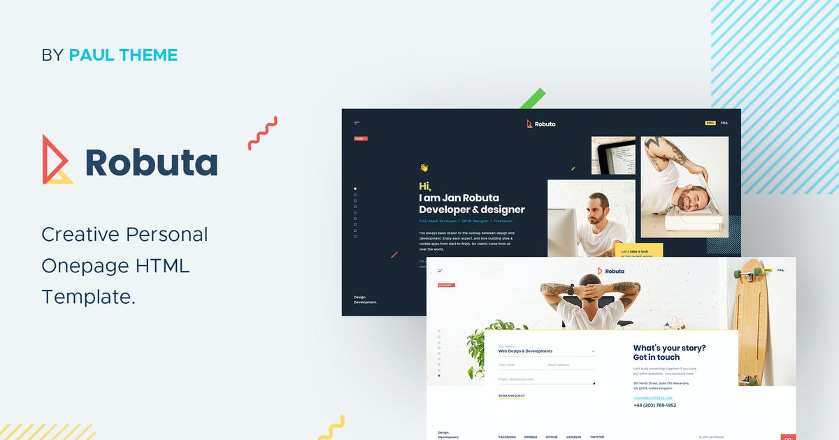 Download Robuta - Personal Onepage PSD Template by paul_tf