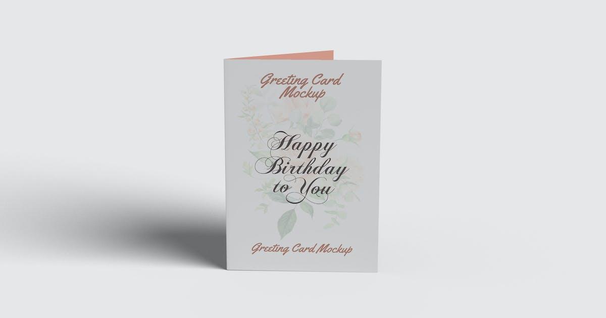 Download Greeting Card Mockup by UnicodeID