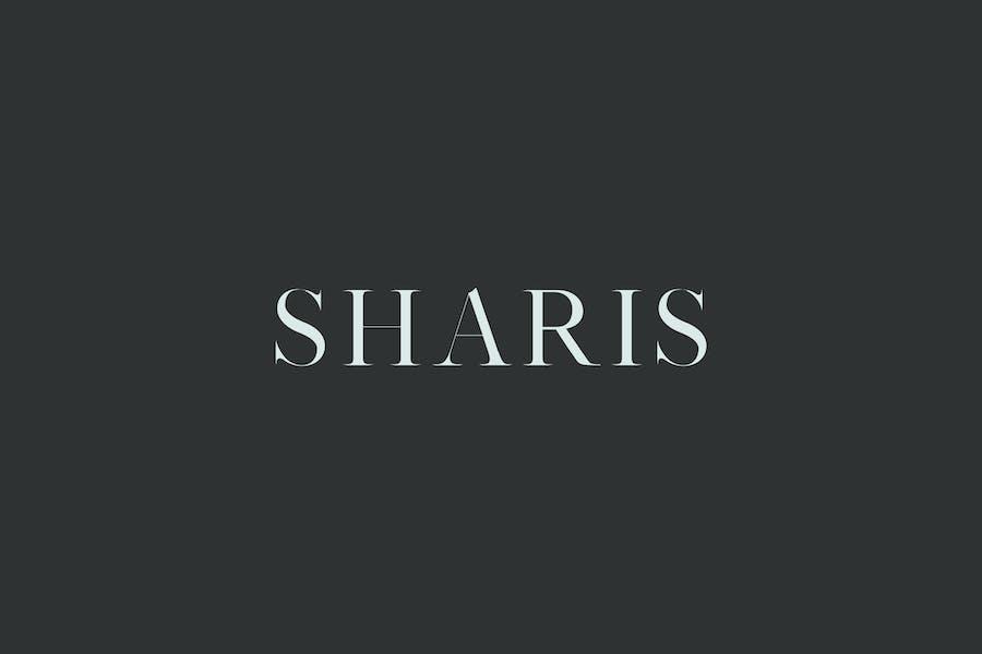 Sharis Con serifa 7 Font Family Pack Color blanco