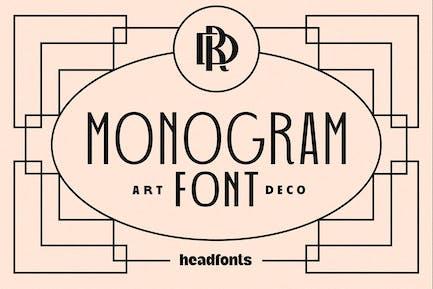 Art Deco Monogram Font