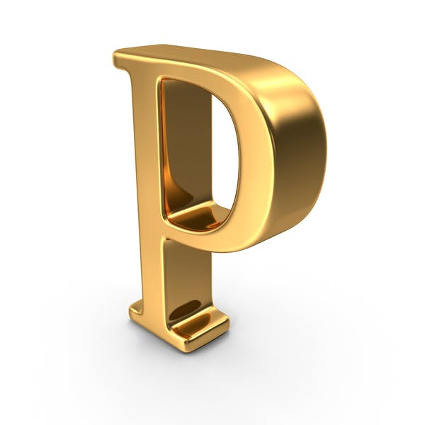 Золотая заглавная буква P