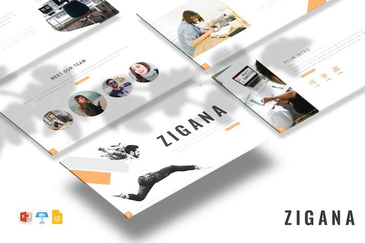 Zigana - Творческие слайды PPTX/GSlid/ Ключ