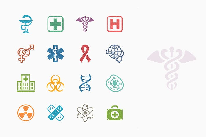 Cover Image For Medicina & Health Care Íconos Kit 1 - Colored Series