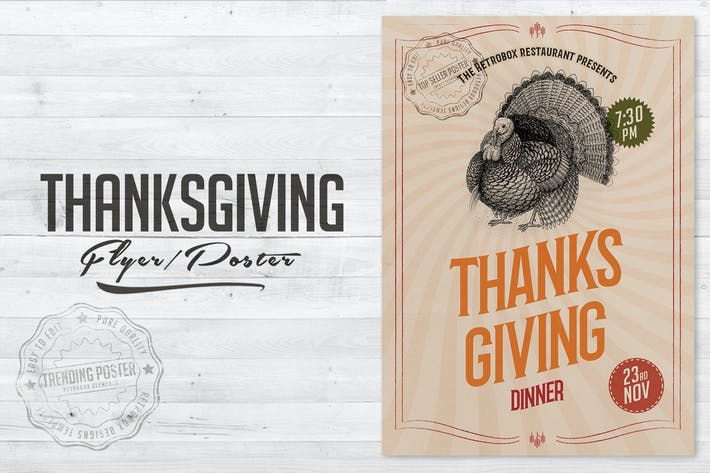 Cover Image For Thanksgiving Flyer Poster