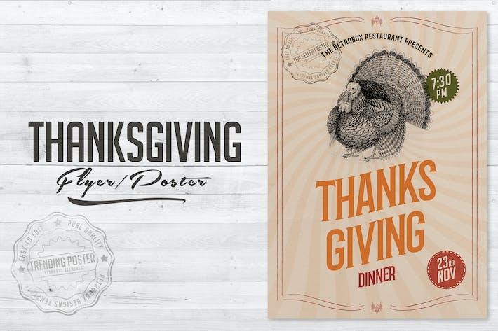 Thumbnail for Affiche de Thanksgiving dépliant
